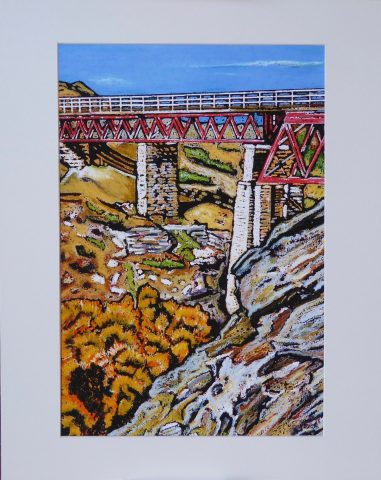 Print - Small - Poolburn viaduct, Central Otago