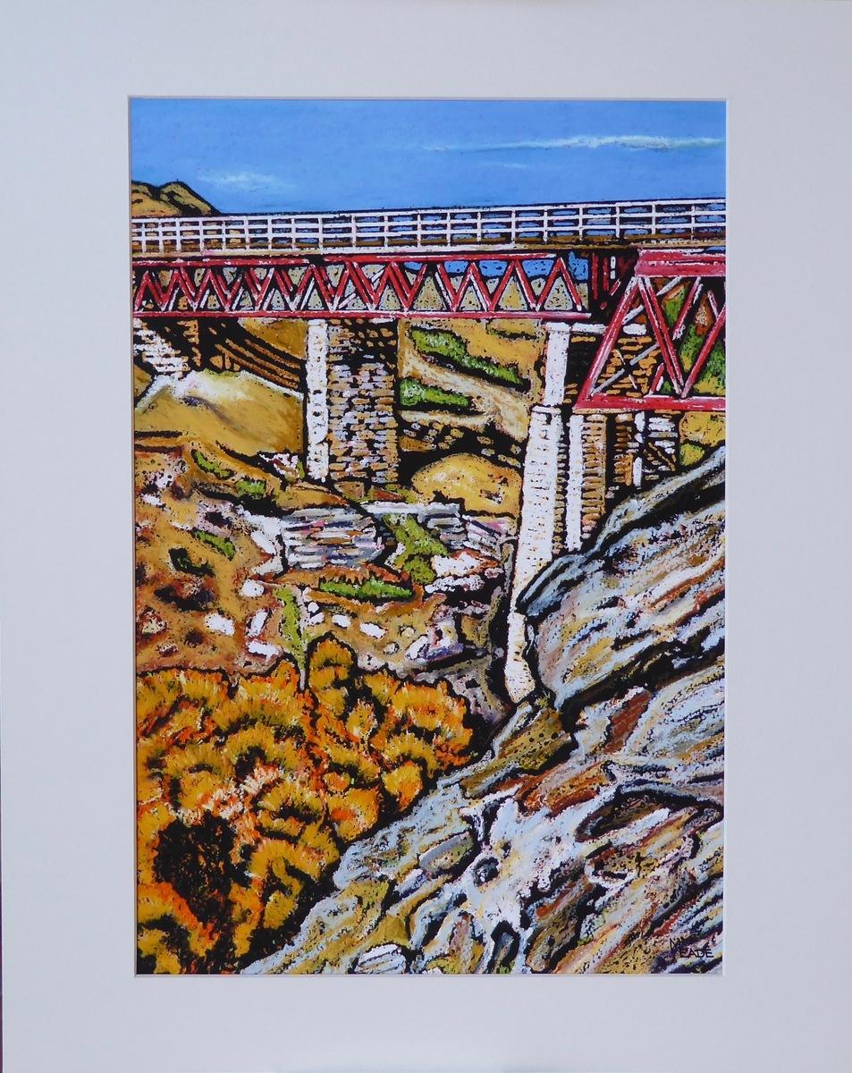 Print - Small - Poolburn viaduct, Central Otago