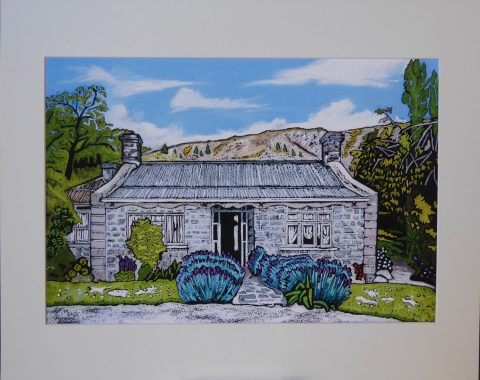 Print - Large - Chris McDonalds House, Clyde Central Otago