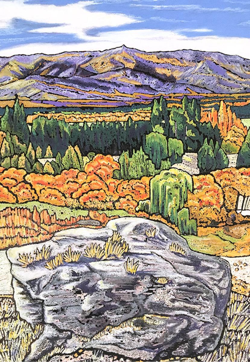 Autumn Toward Leaning Rock