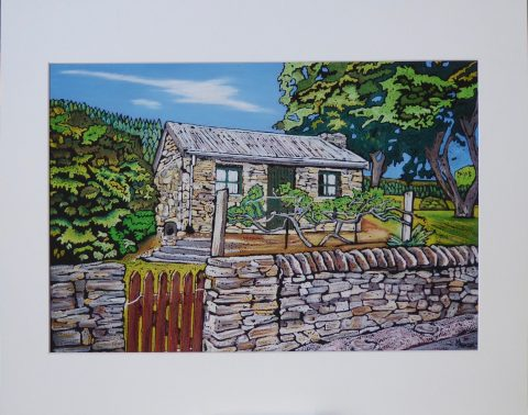 Print - Large -  Holden Cottage, Clyde, Central Otago