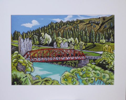Print - Small - Clyde Bridge, Clyde, Central Otago