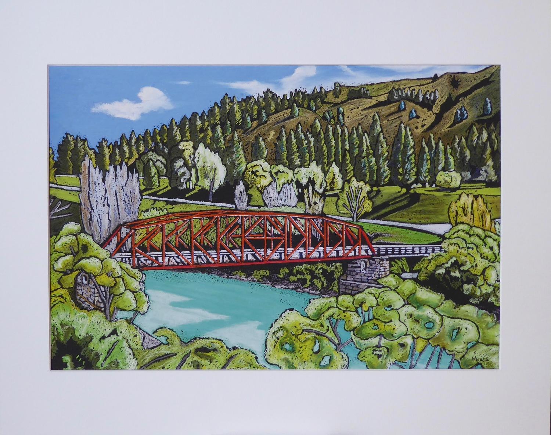 Print - Small - Clyde Bridge, Clyde, Central Otago
