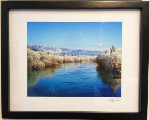 Hore Frost Clutha River - signed matt board unframed