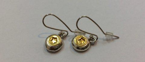 Gol star drops earrings