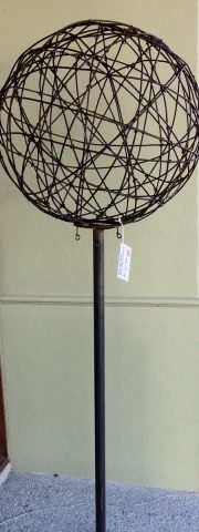 75cm rusty plain ball and pole