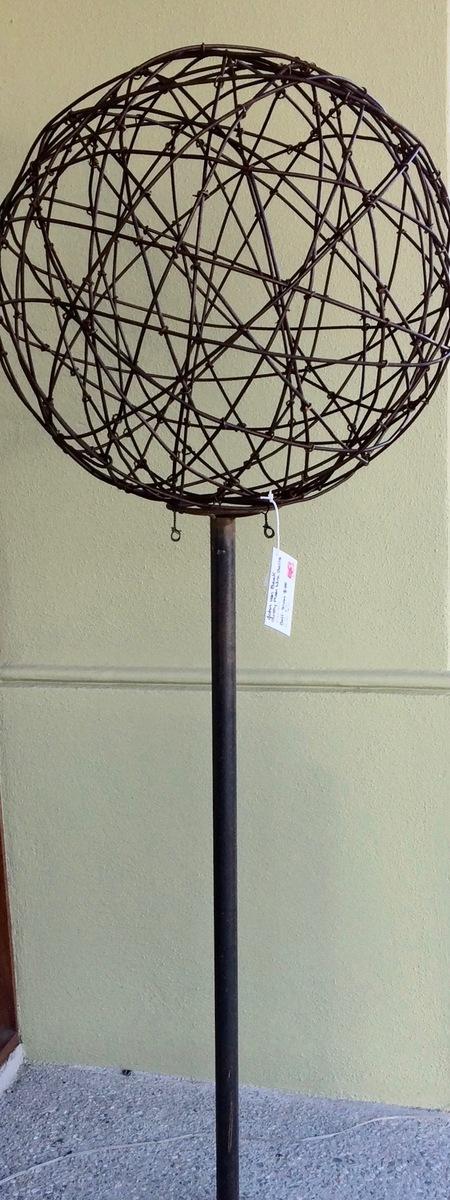75cm rusty plain ball and pole