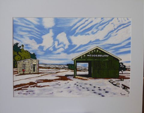 Print - Small - Wedderburn Goods Shed, Central Otago