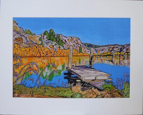 Lower Manorburn Dam pier, Central Otago