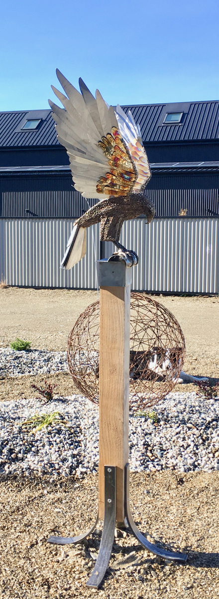 Falcon on Stand