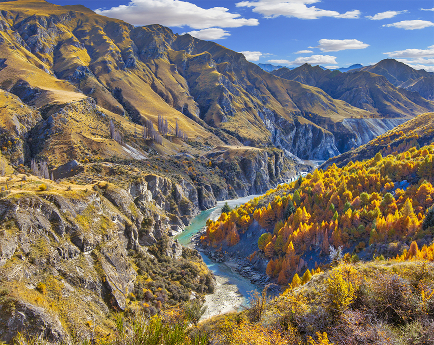 Shotover River, Skippers Canyon, Queenstown Photo Block Large