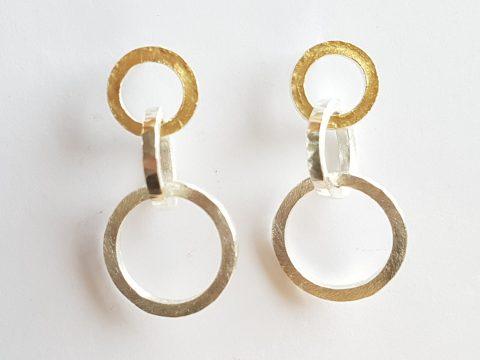 Interlaced 3 loop earrings
