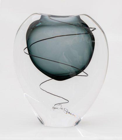Festival vase - transparent grey
