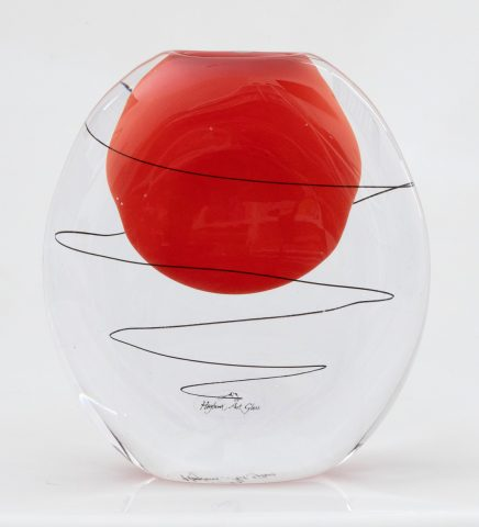 Festival vase - opaque red