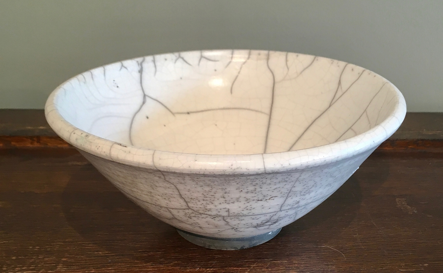 White crackle bowl