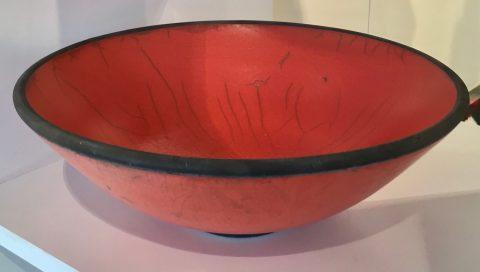 Red raku bowl -0033