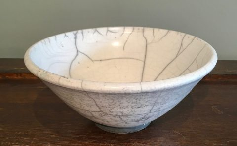 White crackle bowl