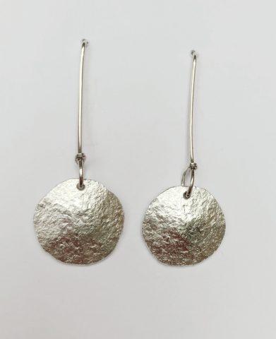 Fine + sterling silver earrings