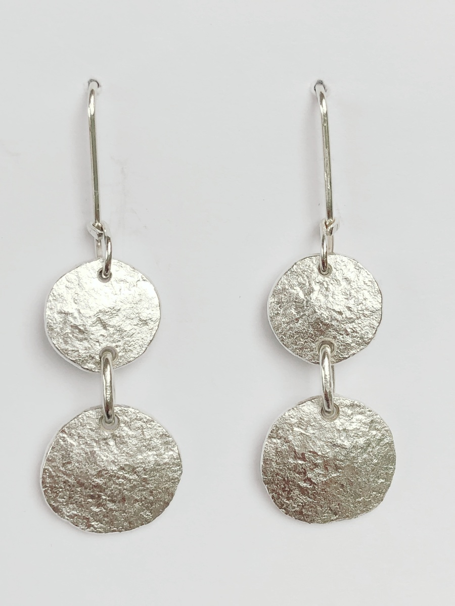Fine + sterling silver earrings