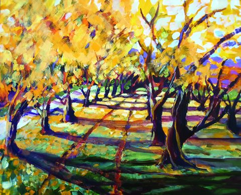 Autumn Apricot Trees -solo exhibition -