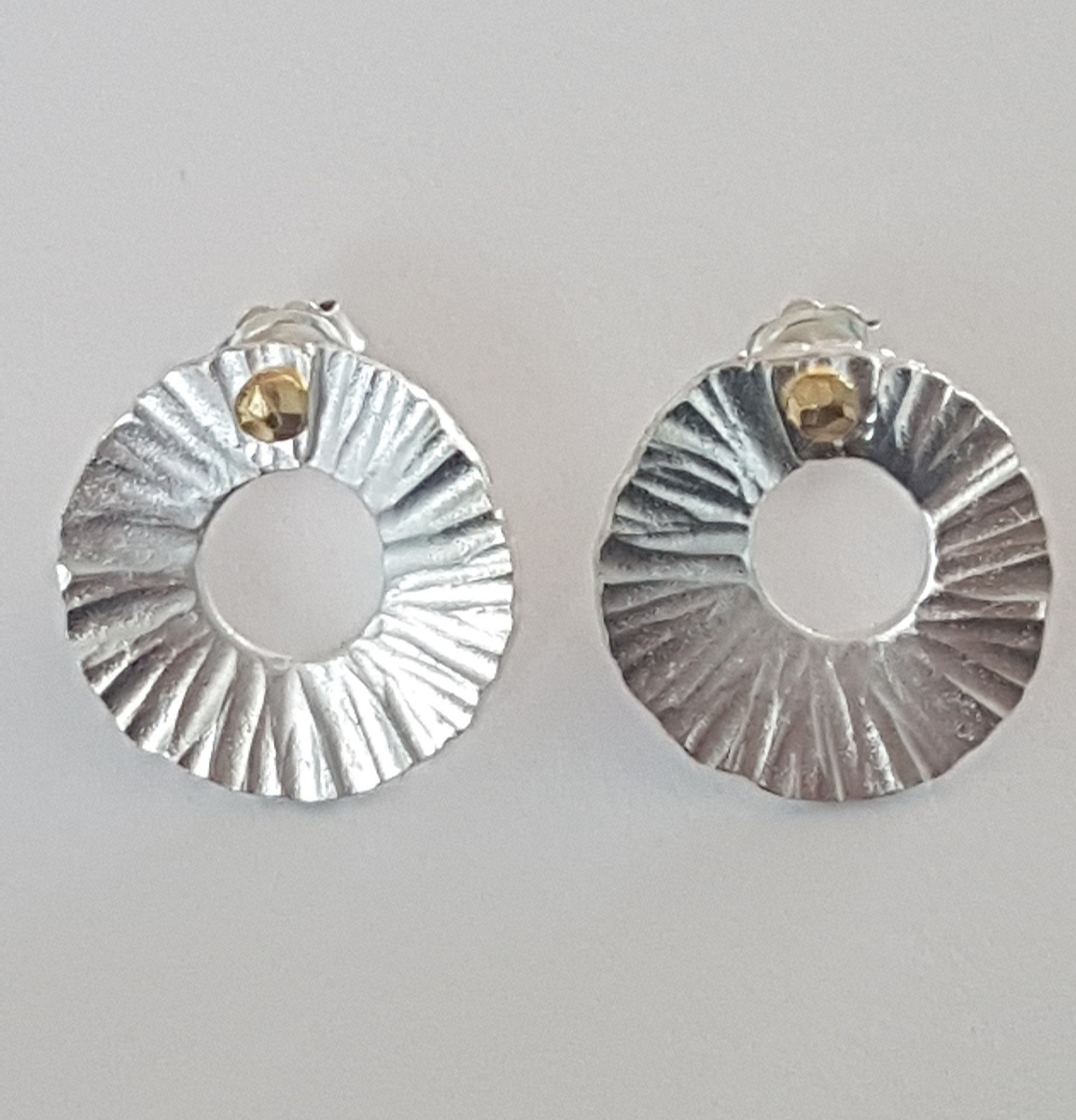 Silver Peel earrings