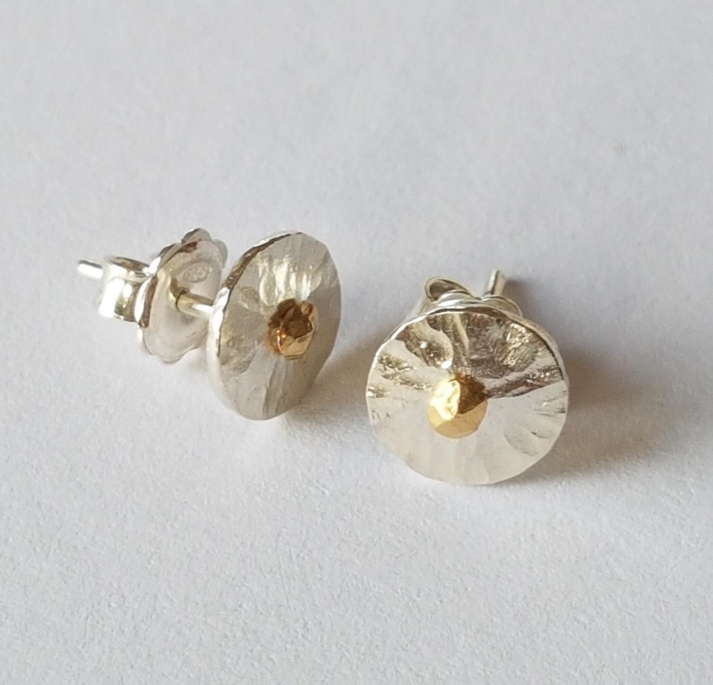 Silver Peel - stud earrings (small)