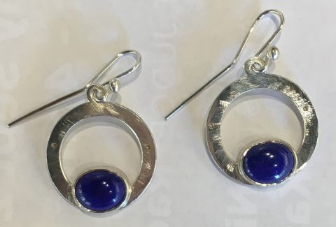 Lapis Earrings (4915)