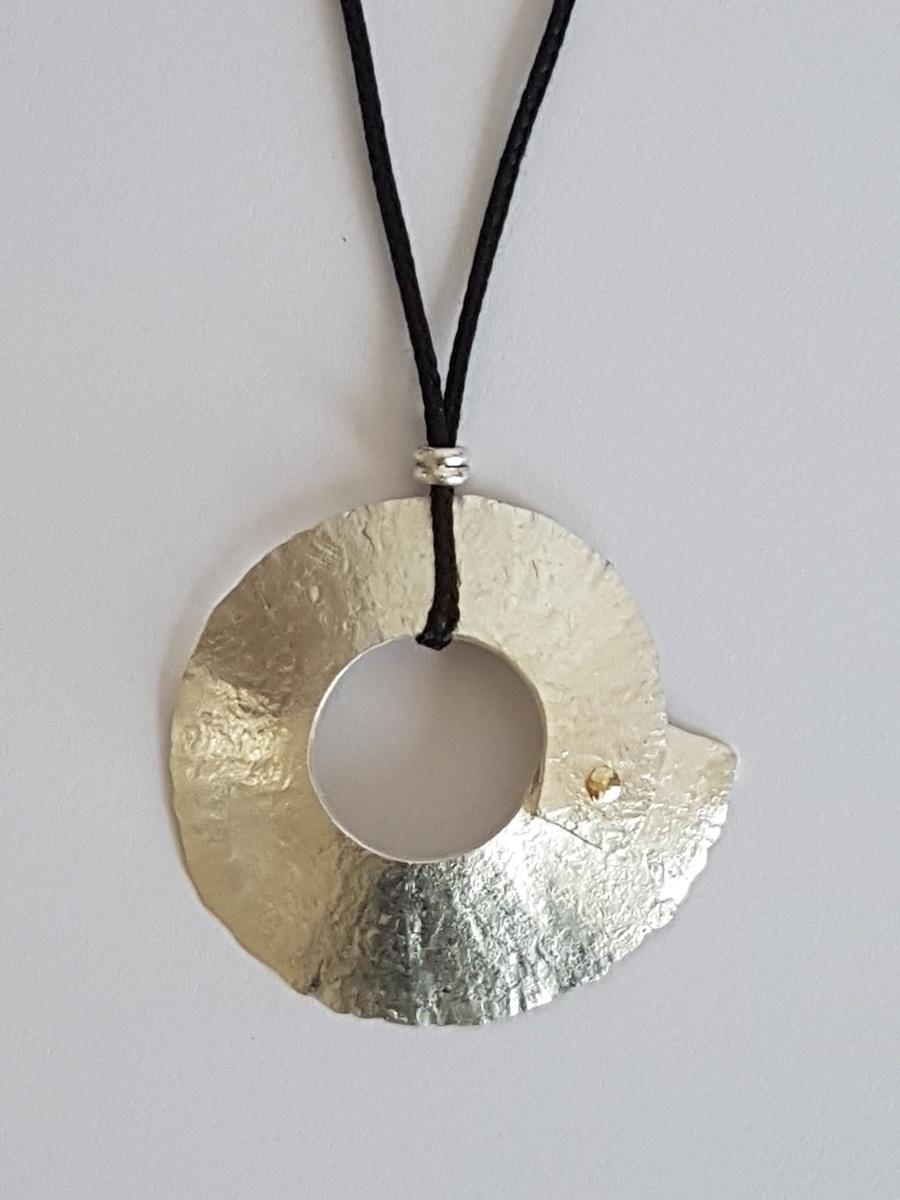 Silver Peel - reversible pendant
