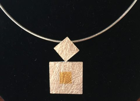 Tumbling Squares Duo- Pendant