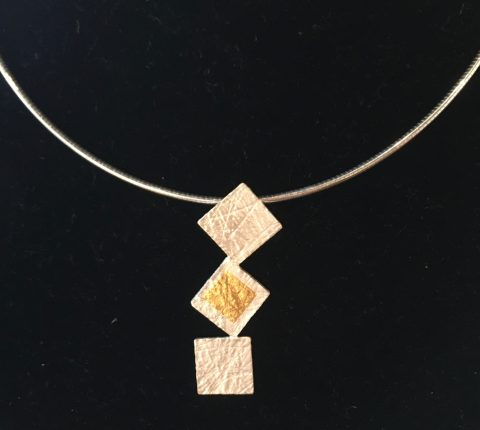 Tumbling Squares Stacked - Pendant