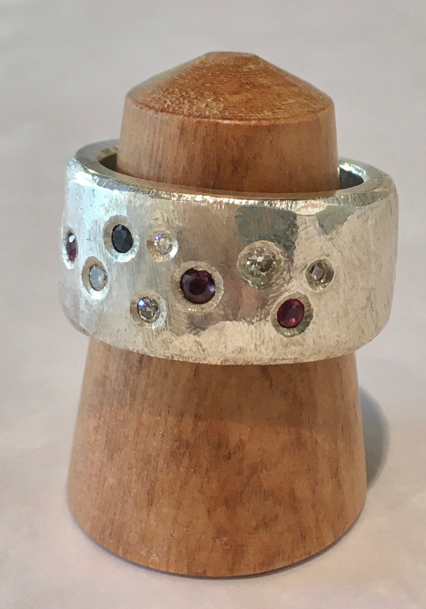 Diamond, Sapphire and Ruby Ring (6020)