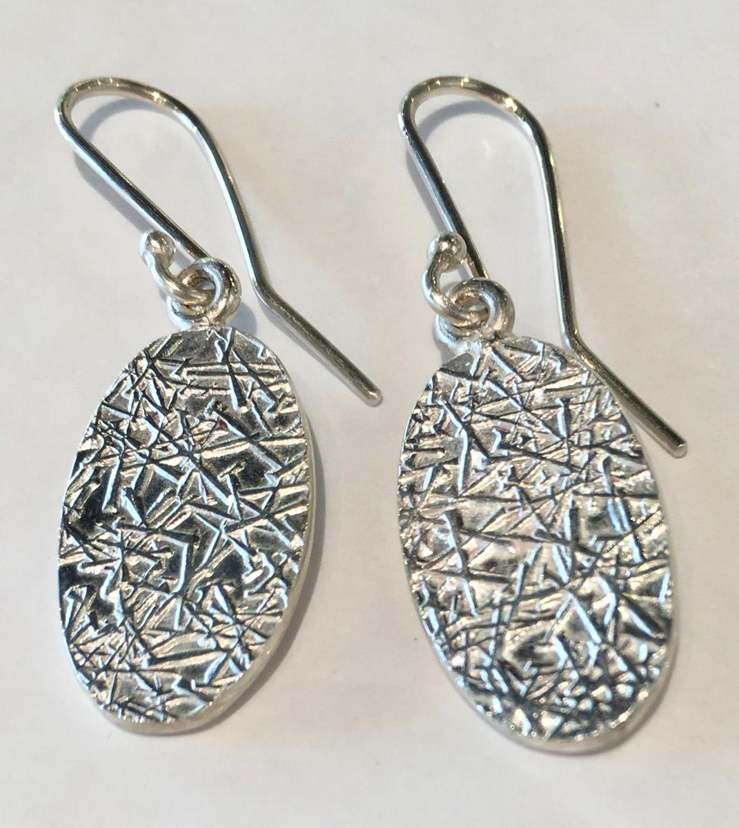 OvalText-ure earrings