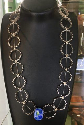Corrugated Circles Necklace