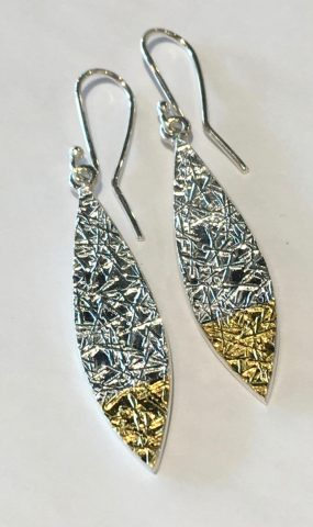 Leaf Text-ure earrings