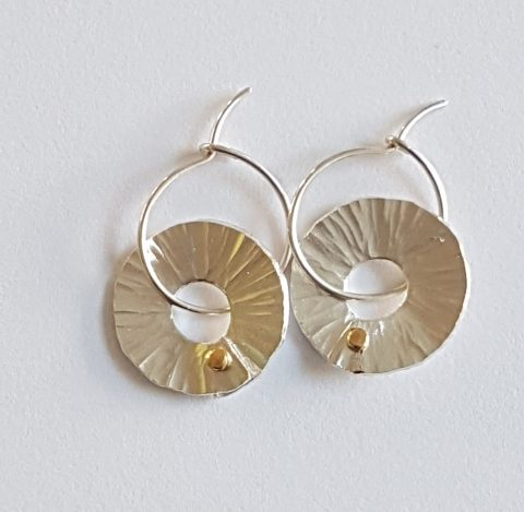 Silver Peel hoop earrings