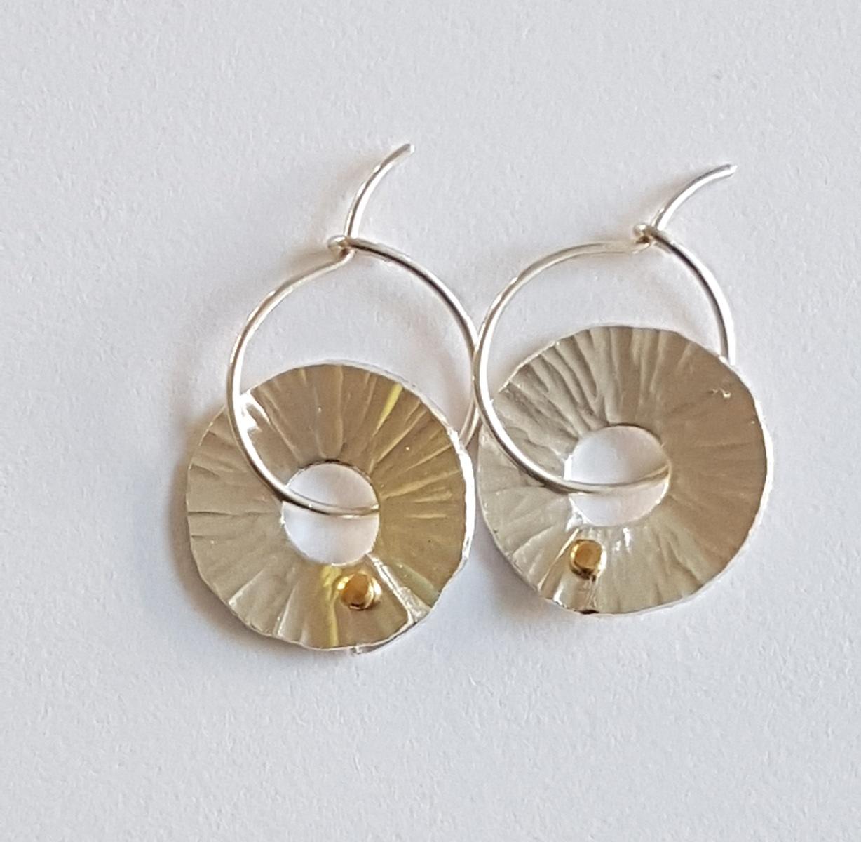 Silver Peel hoop earrings