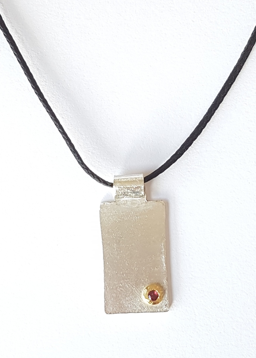 Pendant with ruby