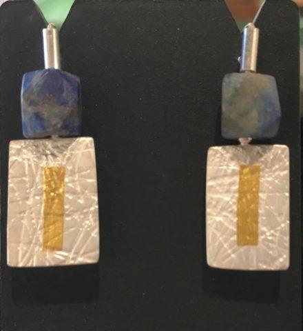 1.5 x 1 Oblong earrings