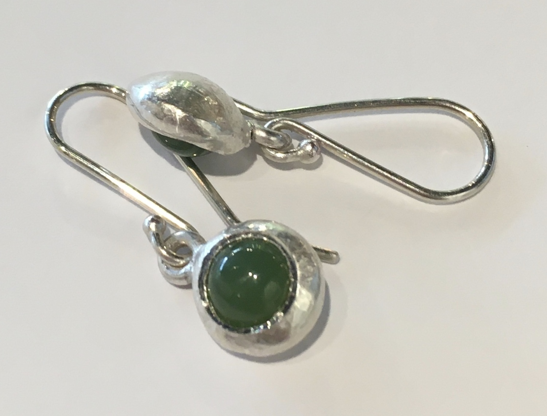 Pounamu ingot drop earrings