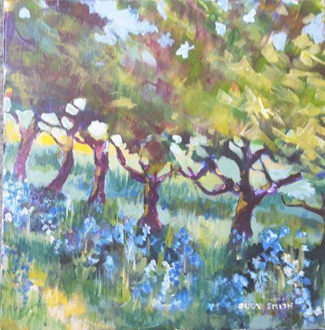 Blue Bells under Fruit Trees