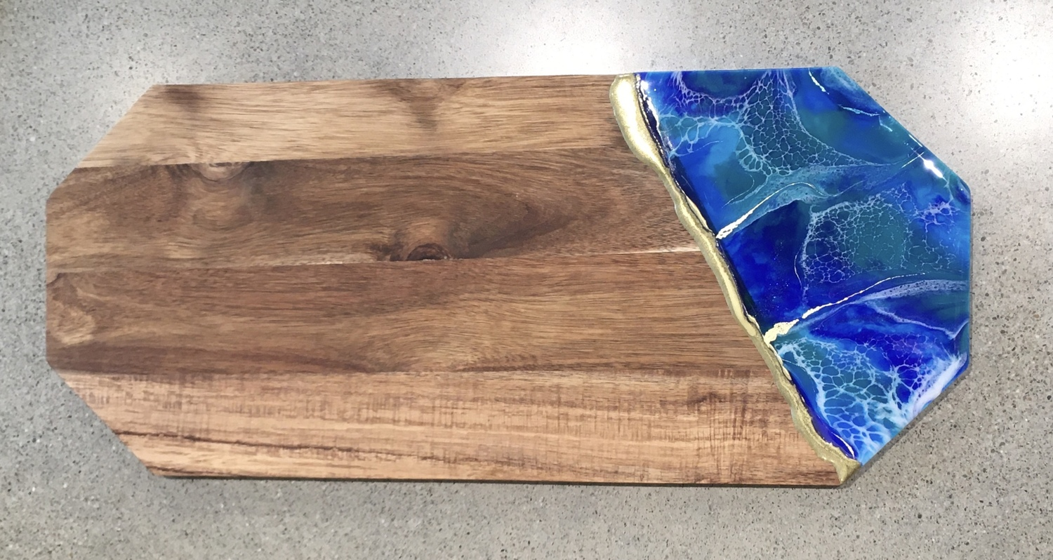 Cheese board (large) with gold