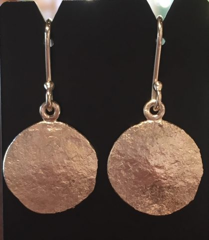 Pure Silver earrings  (small) - 0068