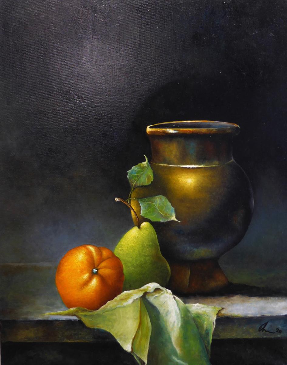 Vase with Orange