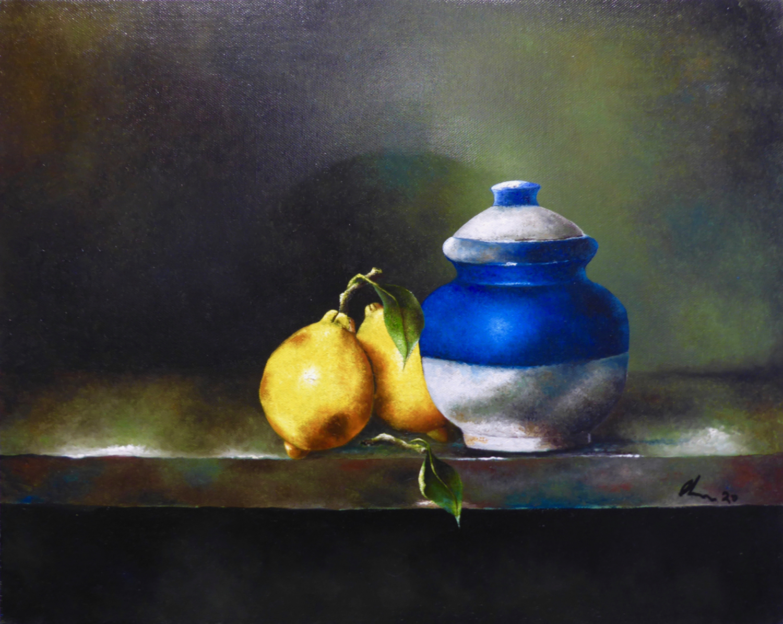 Pot with Two Lemons
