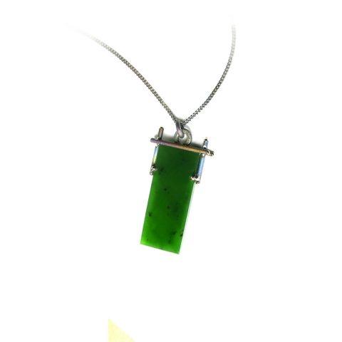 Pounamu and Titanium pendant NA101