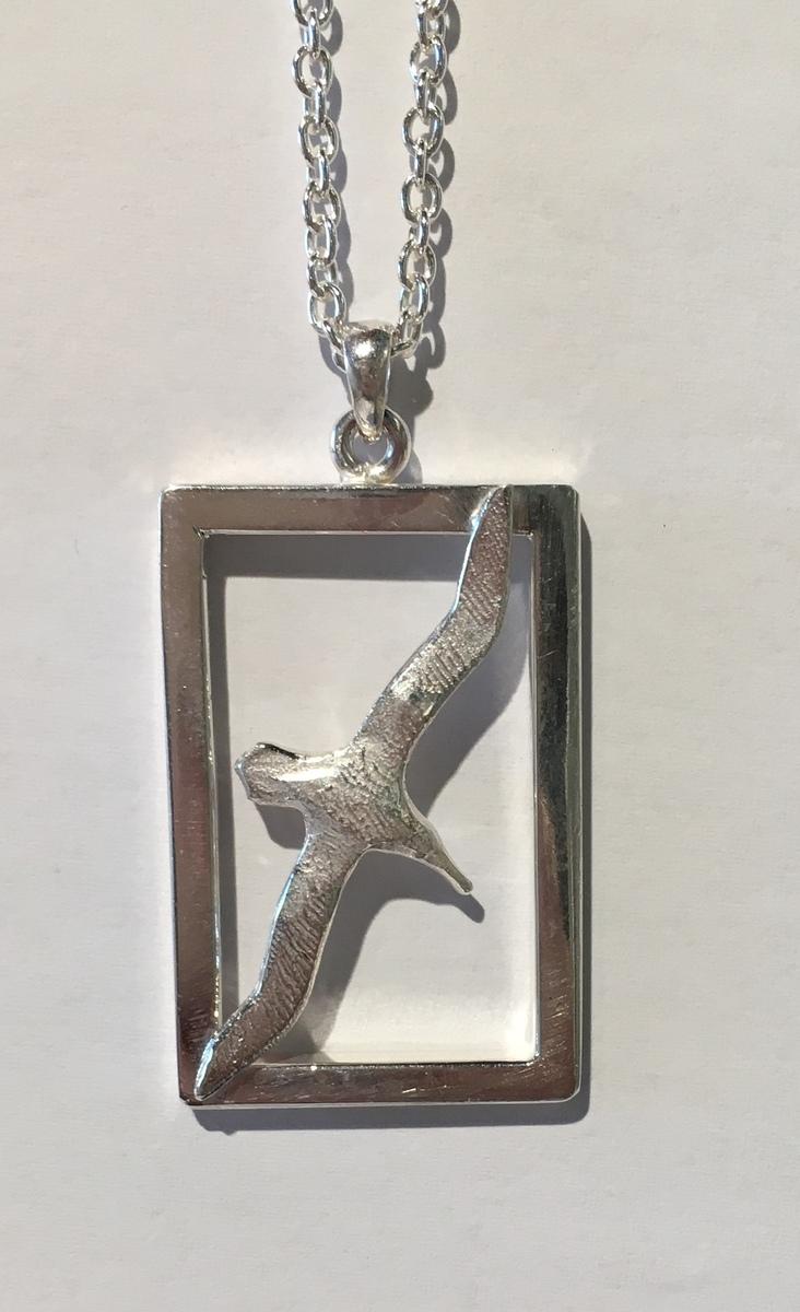 Albatross in a Frame pendant