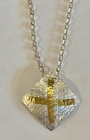 Domed square Pendant