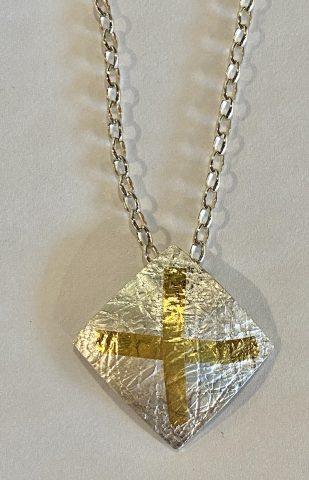 Domed square Pendant