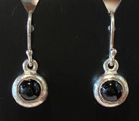Australian Black Jade ingot drop earrings