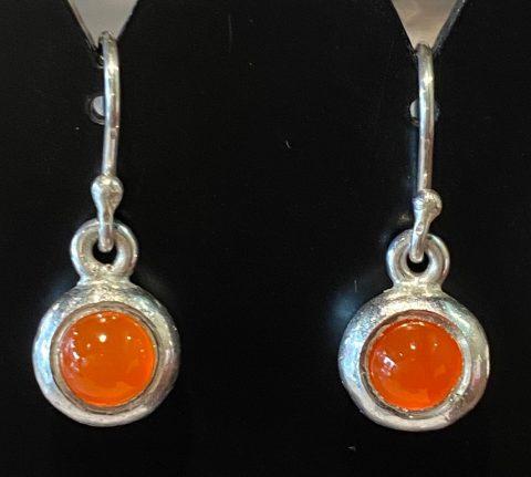 Carnelian ingot drop earrings